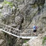 Sicherung des Schrofenpaß mit einer Leiter