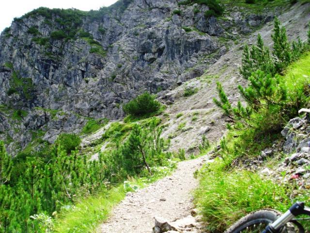 Wanderweg am Schrofenpass